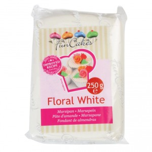 Funcakes Marzipan Floral Weiss 250Gramm