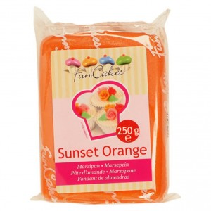 Funcakes Marzipan Sunset Orange 250Gramm