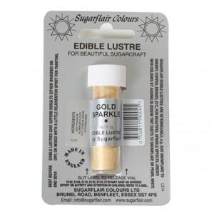 Sugarflair Pulverfarbe Glänzend Gold Sparkle 2g