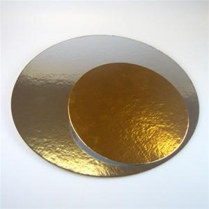 Funcakes Tortenunterlage Gold/Silber Rund 26cm 100Stück