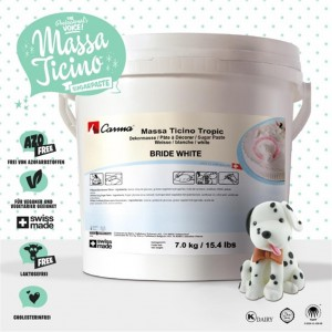 - Massa Ticino Tropic Rollfondant Weiss 7kg