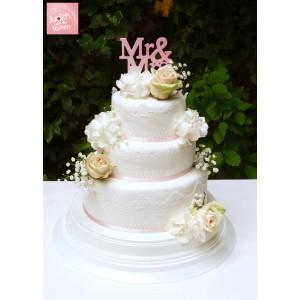 CAKE TOPPER GUMPASTE MR&MRS