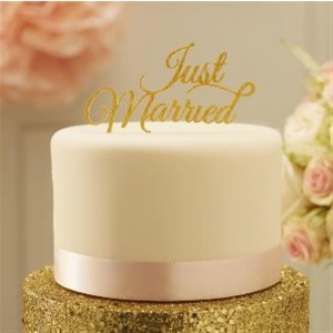 CAKE TOPPER GOLD JUST MARRIED