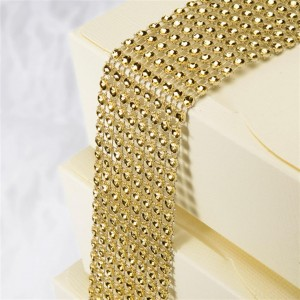 Diamantband 8 Reihen 1,5m Gold
