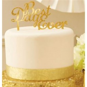 CAKE TOPPER GOLD BEST DAY EVER