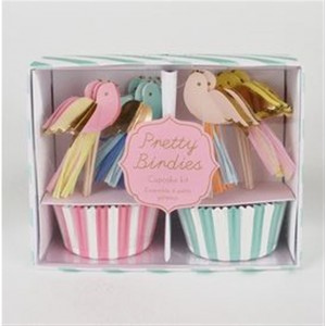 MERI MERI PRETTY BIRDIES CUPCAKE KIT 48TEILIG