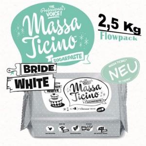 MASSA TICINO TROPIC ROLLFONDANT WHITE 2,5KG FLOWPACK