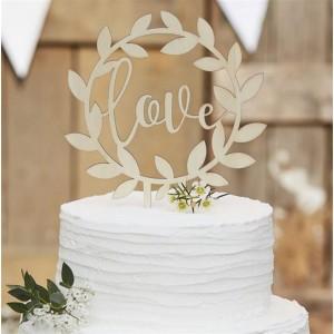 CAKE TOPPER HOLZ LOVE