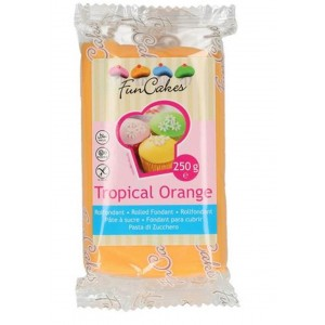 Funcakes Rollfondant Tropical Orange 250g