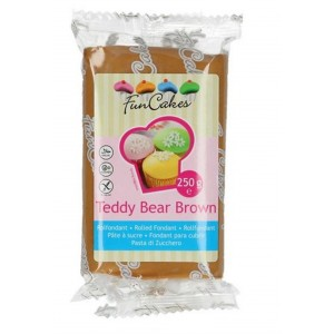 Funcakes Rollfondant Teddy Bear Brown 250g
