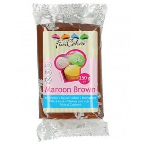 Funcakes Rollfondant Maroon Brown 250g