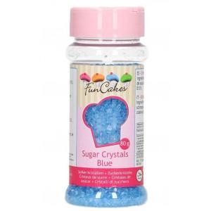 Funcakes Zuckerdekor Zuckerkristalle Blau 80g
