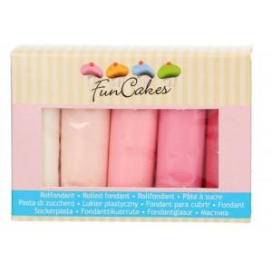 Funcakes Rollfondant Multipack Pink Palette 5*100g