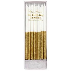 Meri Meri Kerzen Gold Glitter Dipped