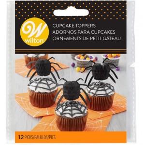 Wilton Cake Topper Halloween Spinne 12 Stück