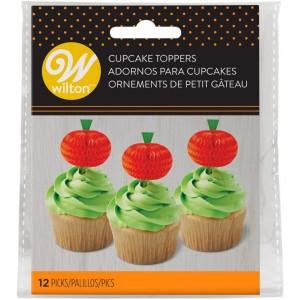 Wilton Cake Topper Kürbis 12 Stück